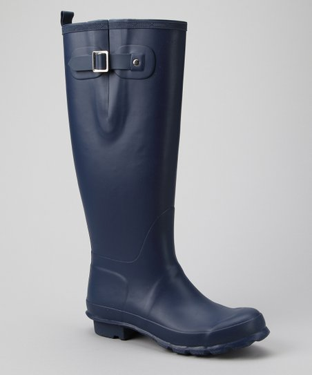 Navy Charlotte Tall Fisherman Rain Boot