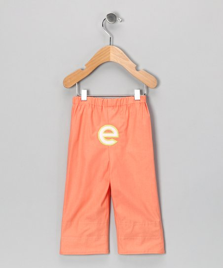Coral Brites Initial Pants - Infant & Toddler