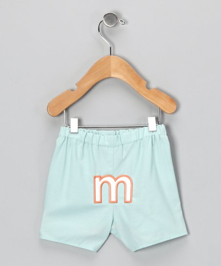 Mist Blue Brites Initial Boxers - Infant & Toddler