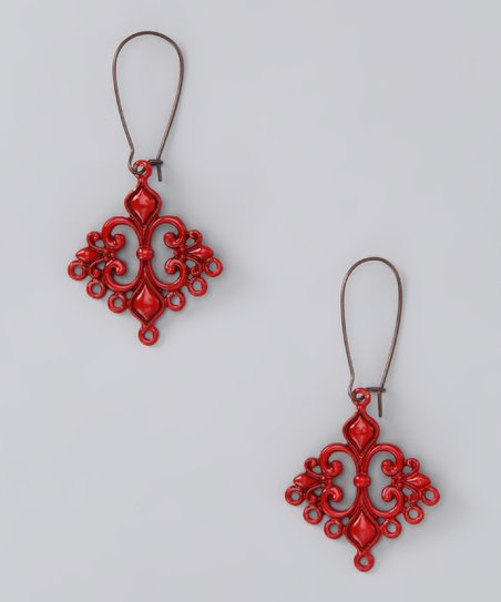 Red Love Struck Earrings