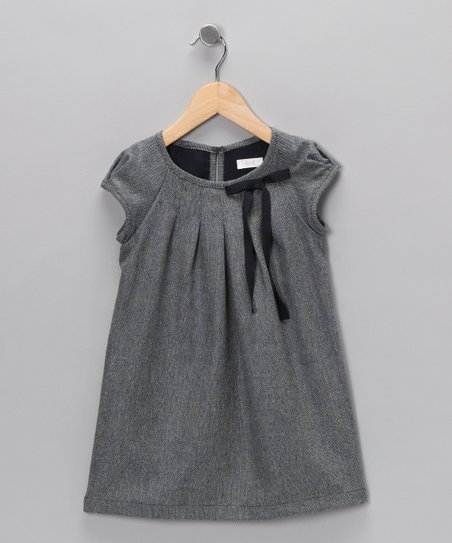 Light Blue Pleated Shift Dress - Infant, Toddler & Girls