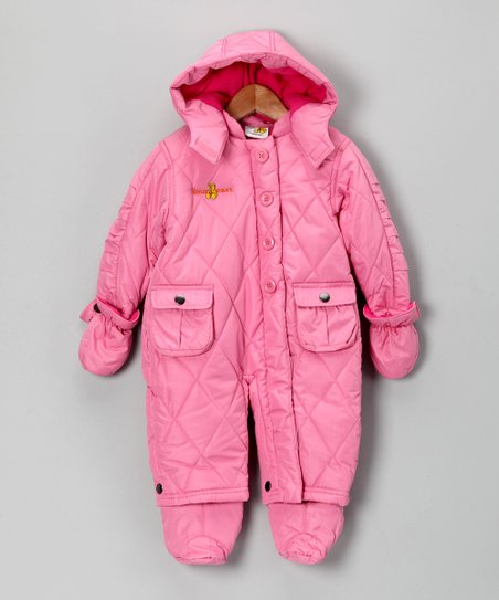Pink Double-Pocket Snowsuit - Infant