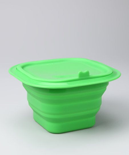 Green Collapsible Silicone Storage Bowl