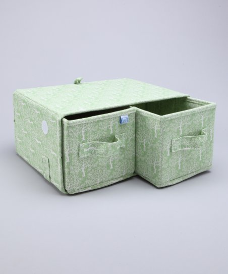 Sage Forest Dual-Compartment Stacking Drawer