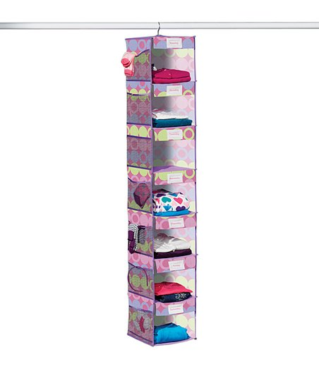 Purple & Yellow Dot Seven-Shelf Hanging Organizer
