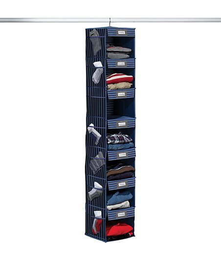 Gray &amp; Blue Stripe Seven-Shelf Hanging Organizer