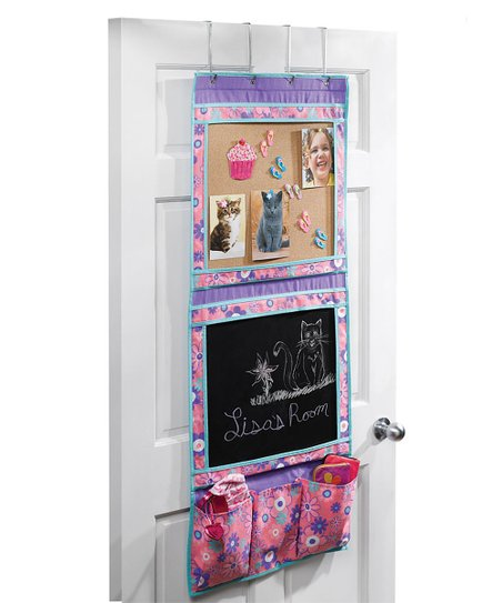 Purple & Turquoise Floral Over-the-Door Activity Center