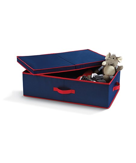 Navy &amp; Red Underbed Storage Bin