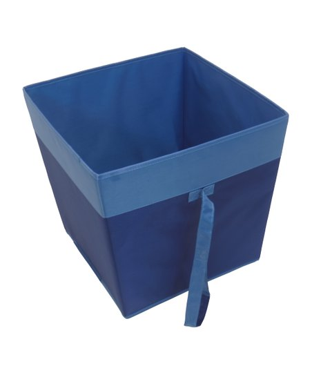 Navy & Blue Rolling Storage Bin