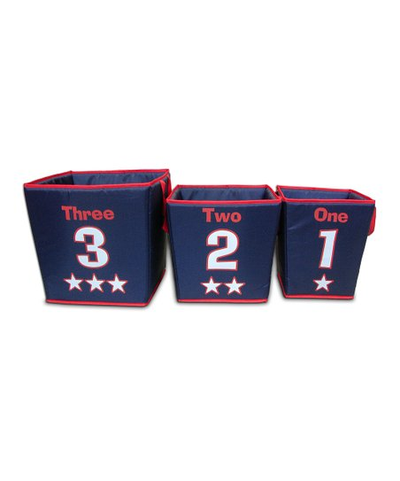 Blue & Red Storage Bin Set