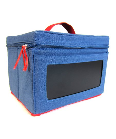Navy & Red Small Chalkboard Box