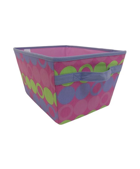 Purple & Yellow Dot Storage Bin