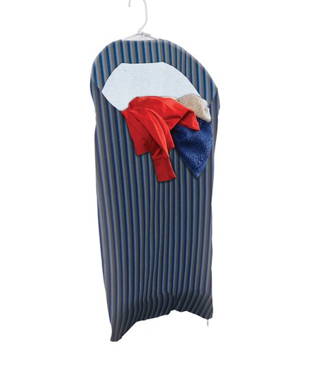 Gray & Blue Stripe Hanging Hamper