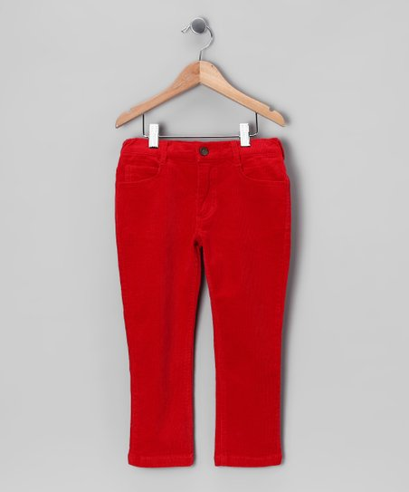 Red Corduroy Pants - Infant, Toddler & Boys