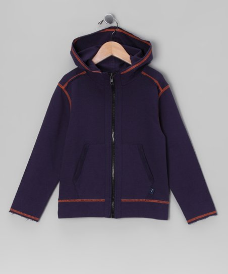 Navy Terry Zip-Up Hoodie - Infant, Toddler &amp; Boys