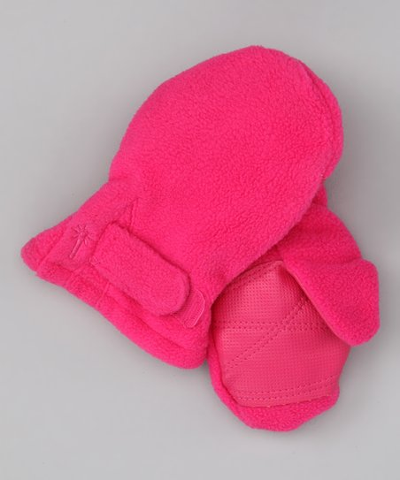 Hot Pink Fleece Mittens - Infant