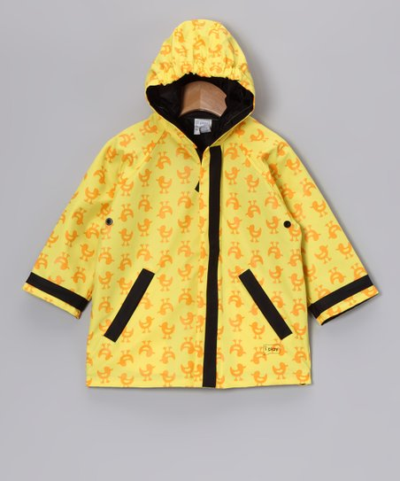 Yellow Duck Hooded Raincoat - Infant