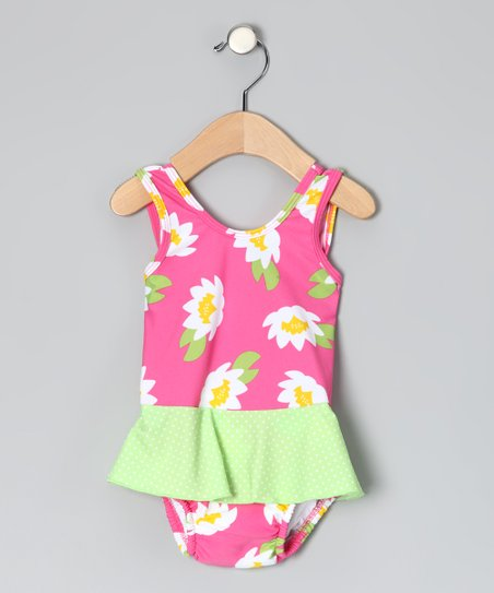 Pink Floral Skirted One-Piece - Infant