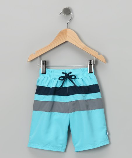 Aqua Stripe Boardshorts - Infant