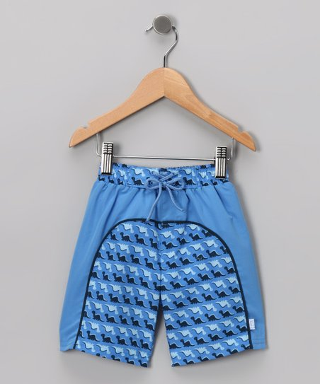 Periwinkle Dinosaur Boardshorts - Infant