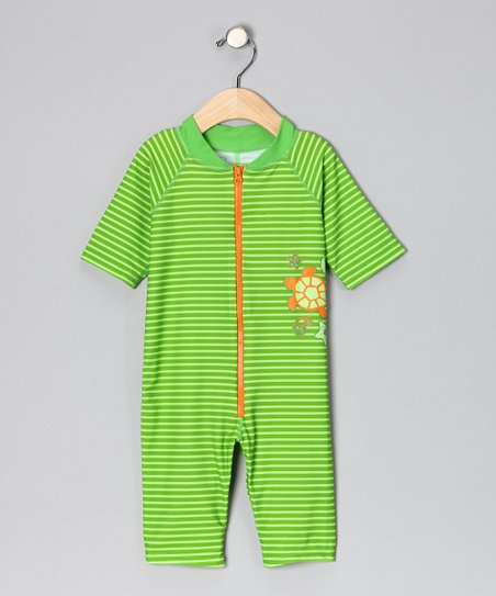 Lime One-Piece Rashguard - Infant