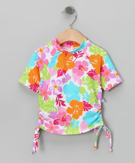Pink & Orange Tropical Rashguard - Infant