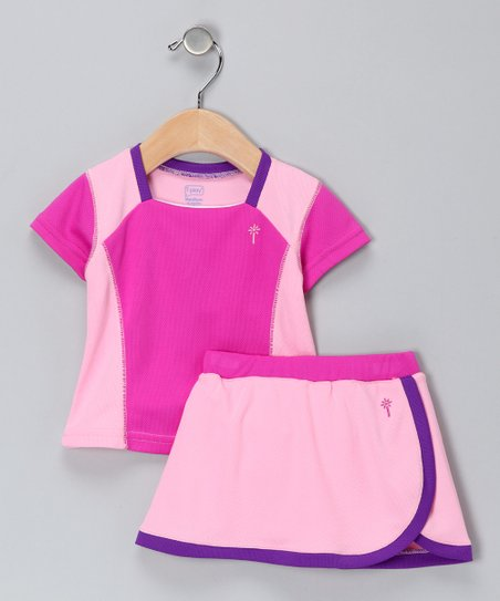 Berry & Plum Tee & Skirt - Infant