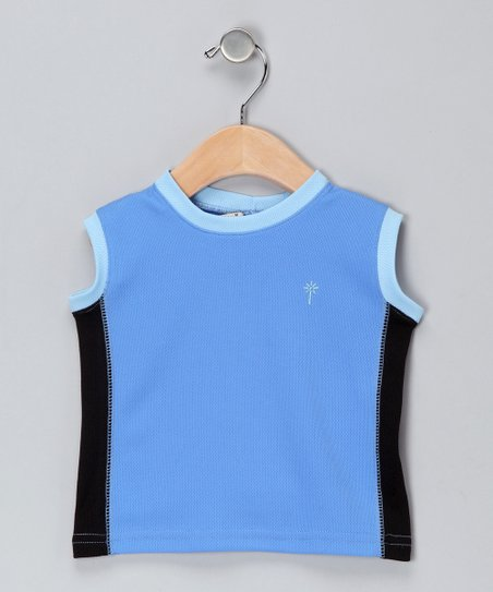 Black & Azure Tank - Infant & Toddler