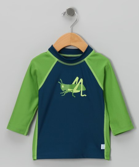 Navy & Green Grasshopper Rashguard - Infant & Toddler