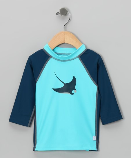 Aqua Stingray Rashguard - Infant & Toddler