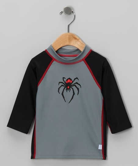 Gray Spider Rashguard - Infant &amp; Toddler