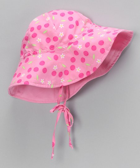 Pink Daisy Polka Dot Sunhat