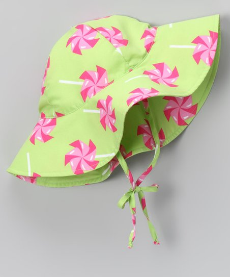 Lime Pinwheel Sunhat