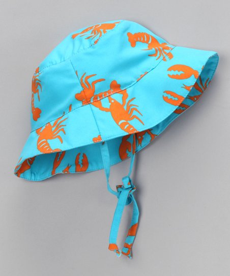 Light Blue Lobster Sunhat - Infant & Toddler