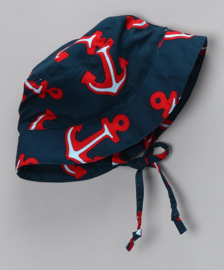 Navy Anchor Sunhat