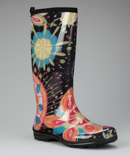 Black Janis Rain Boot