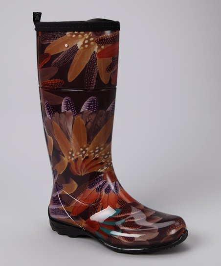 Brown Heather Rain Boot