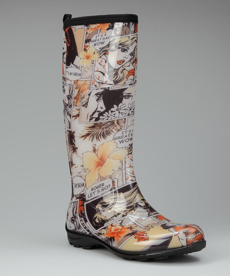 Orange Betty Rain Boot