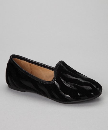 Black Zebra Loafer