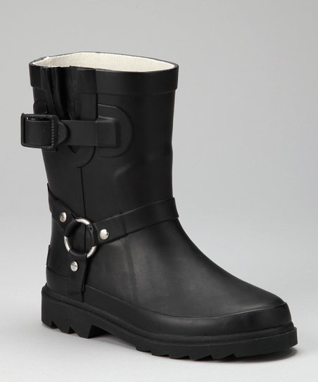 Black Inspiration Harness Rain Boot