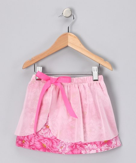 Fuchsia Layered Skirt - Toddler & Girls
