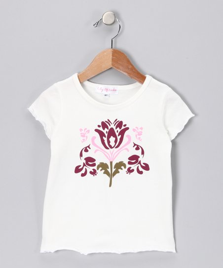 Ivory Flower Tee - Toddler & Girls