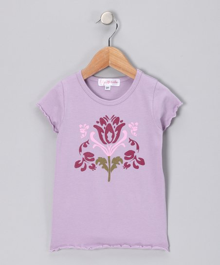 Lavender Flower Tee - Toddler & Girls