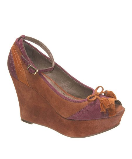 nicole Medium Brown Avid Wedge