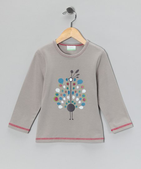 Gray Peacock Organic Tee - Toddler & Kids