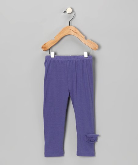 Purple Flower Organic Leggings - Infant, Toddler & Girls
