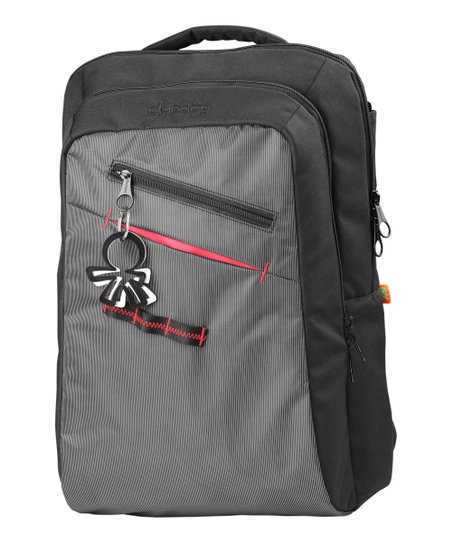 Gray & Black Nine 2 Five Shogun Backpack Diaper Bag