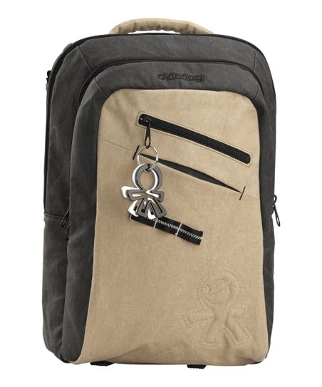 Charcoal Gray & Beige Yukon Shogun Backpack Diaper Bag