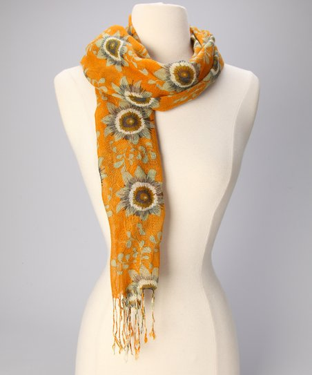 Pumpkin Passion Flower Scarf