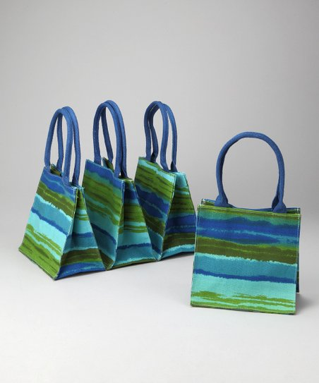Blue Horizon Itsy Bitsy Tote - Set of Four